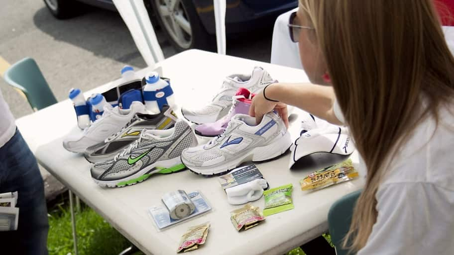 Shoes on a table
