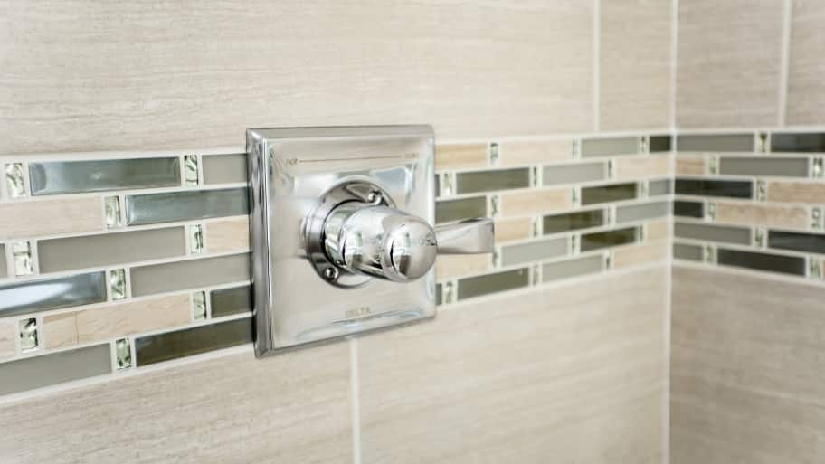 Shower Tile And Faucet