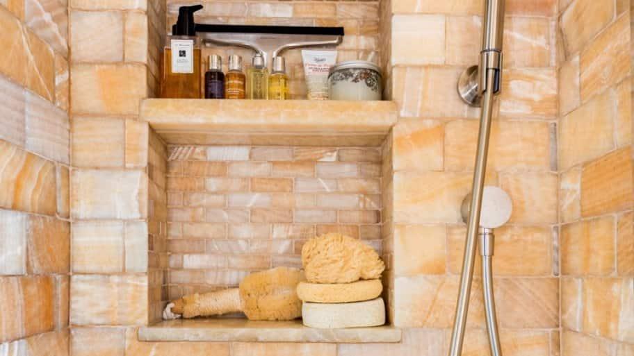 custom tile shower niche