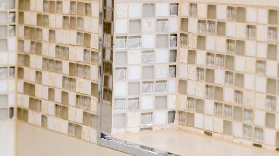 custom tile shower niche detail