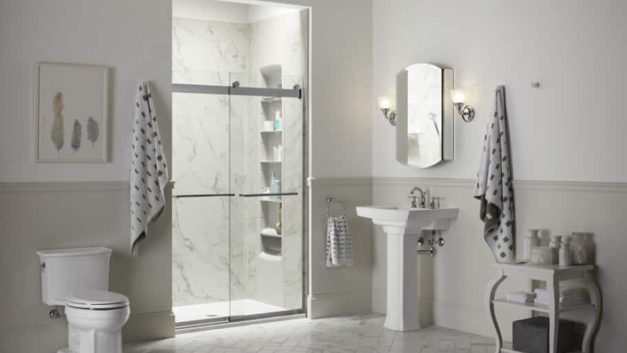 Instead of colorful shower tiles  homeowners are reverting back to neutral  tones   Photo courtesy of Kohler. Shower Design Ideas for a Bathroom Remodel   Angie s List