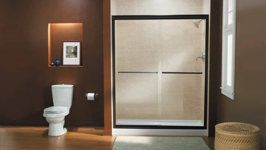 frameless bypass shower doors