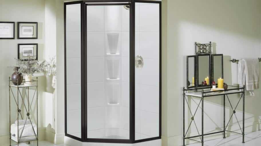 neo-angle shower door