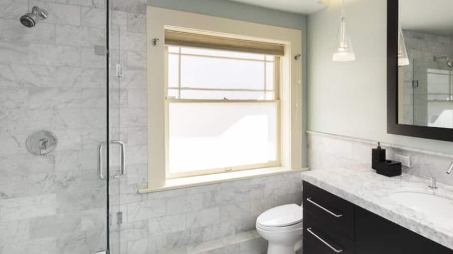 Gray Marble Tile Bathroom
