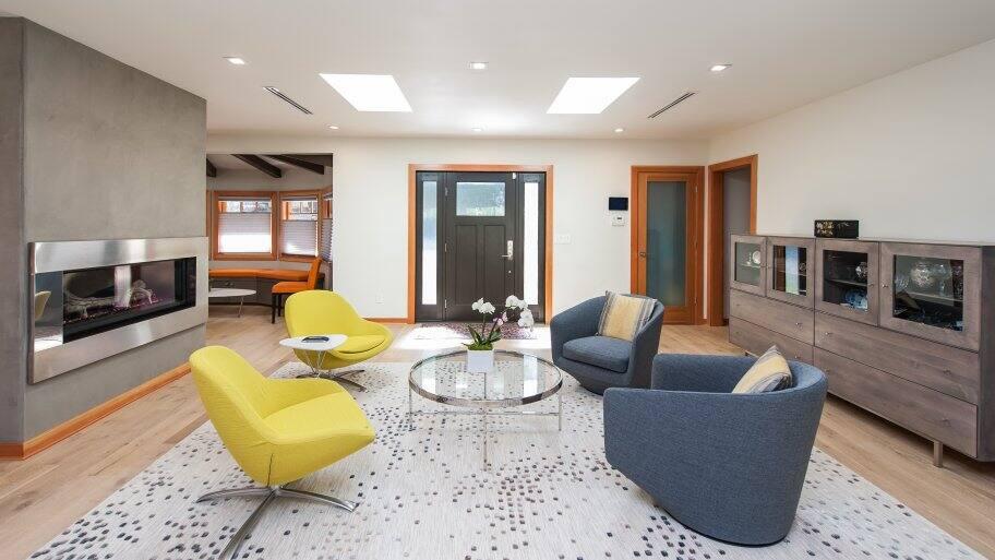 interior design with skylights