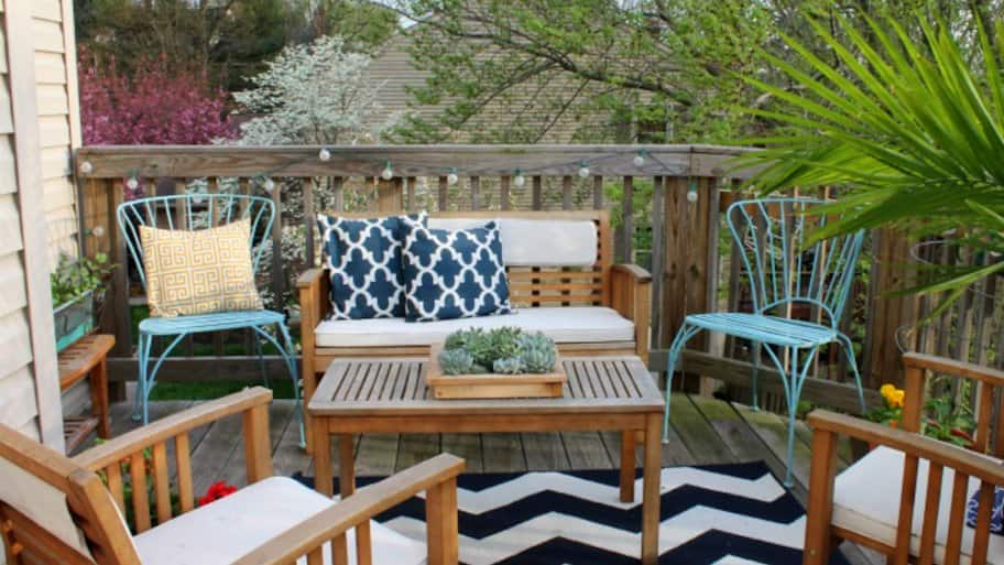 small decorated patio