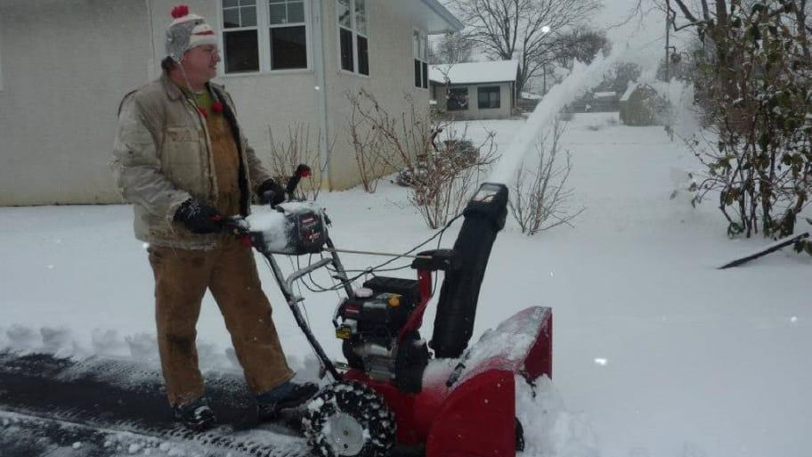 Snowblower in action