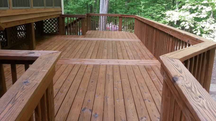 Don T Clean Your Wood Deck With Bleach Newly Stained