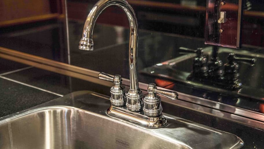If you find rust hiding in a scratch on a stainless steel sink, Sicro says it's best left to a professional. (Photo by Angie's List)