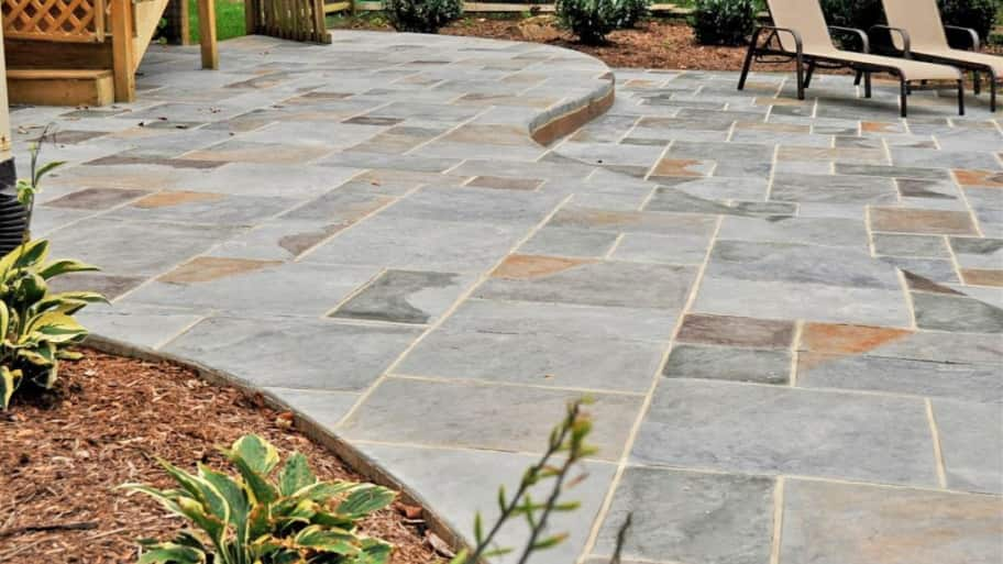 A Stamped Concrete Patio