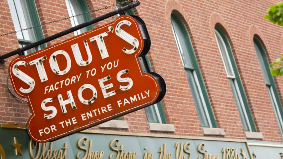 Stout's footware sign Indianapolis Mass. Ave.