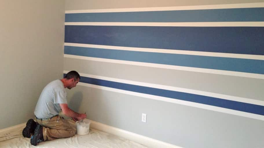 Interior design ideas add dimension angie 39 s list for Painting stripes on walls in kids room
