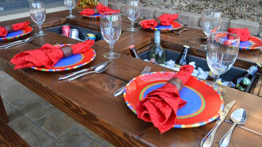 Cool cooler ideas for your next party angie 39 s list for Diy patio table with cooler