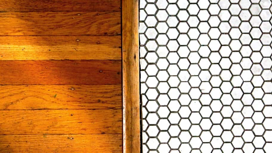 solid hardwood and tile flooring (Photo by Frank Espich)