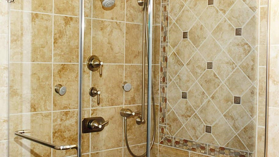 shower tile with picture frame