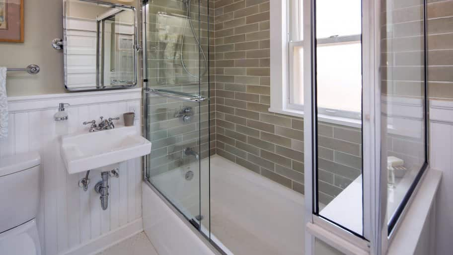 How Much Does Shower Installation Cost Angies List - How much to install a bathroom