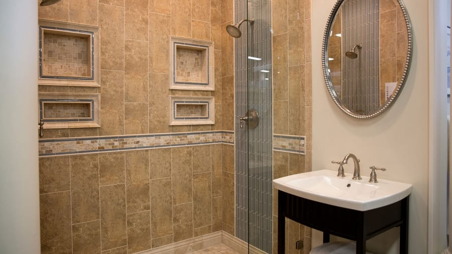 Reaching The Greatest Basement Bathroom Remodel Concepts shower with ceramic tile