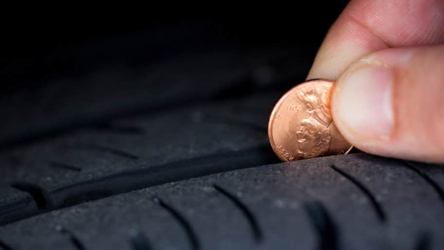 Penny tire tread test