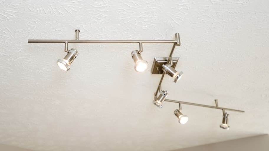 track lighting on bathroom ceiling