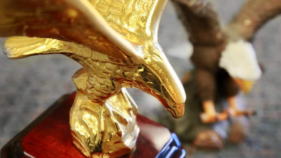 trophy, gold eagle, award