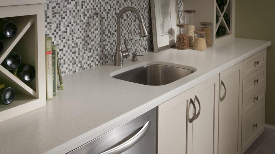 Laminate Countertop Sink Options : undermount sink is attached to a solid surface Formica countertop ...