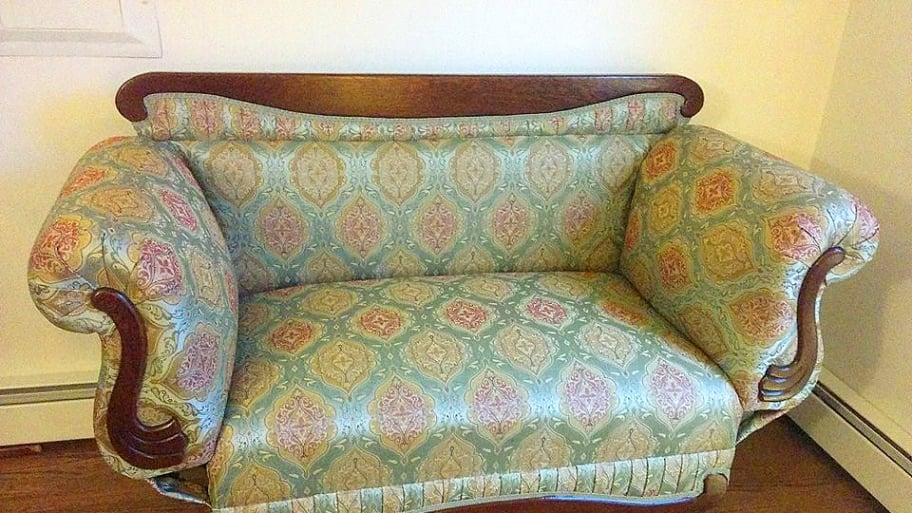 Reupholstered Sofa In Room