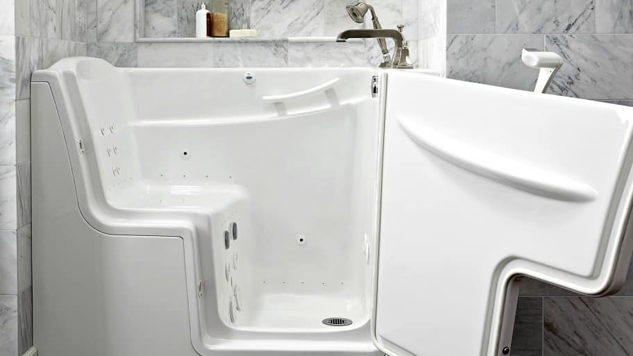 Fantastic 29 Inch White Bathroom Vanity Tiny Bathroom Vanities Toronto Canada Square Silkroad Exclusive Pomona 72 Inch Double Sink Bathroom Vanity Lowes Bathroom Vanity Tops Old Memento Bathroom Scene PurpleReplace Bathtub Shower Doors Pros And Cons Of Walk In Tubs | Angie\u0026#39;s List