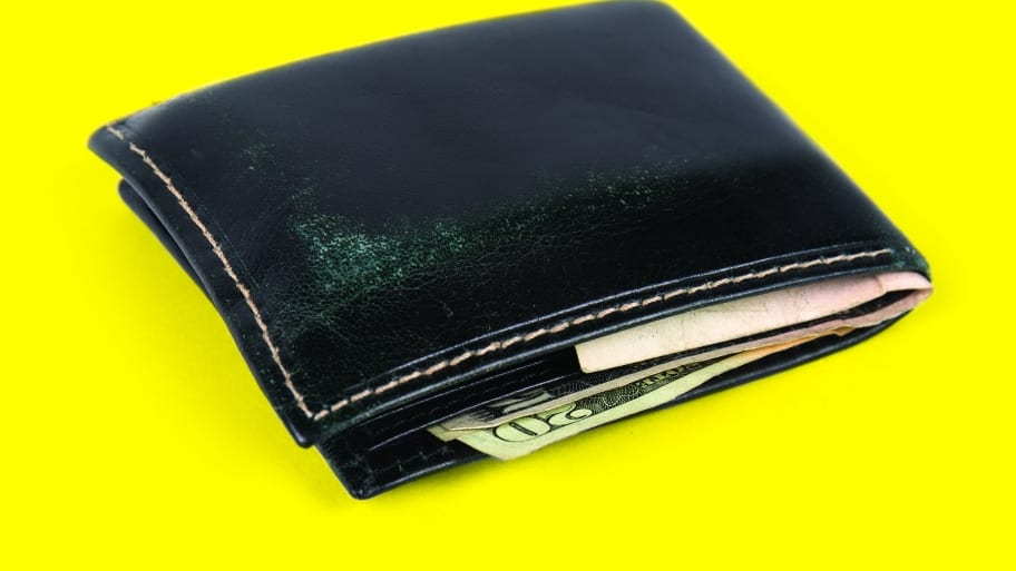 wallet with cash poking out
