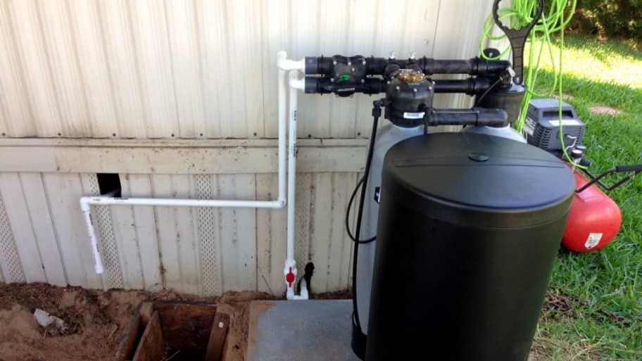 Outdoor water softener
