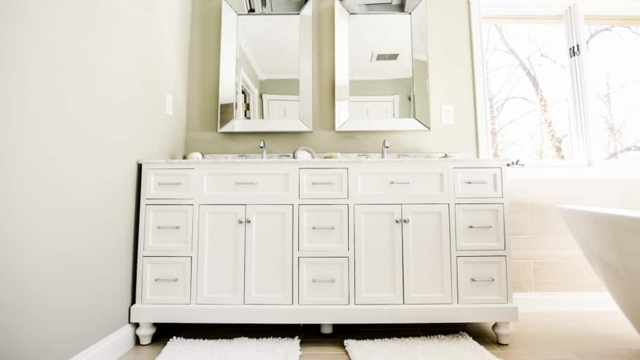 White Glazed Bathroom Sink Vanity And Cabinets Bathroom Sink Vanity Cabinet Options  Angie S List