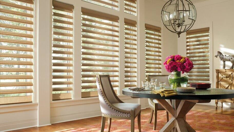 room with Hunter Douglas Alustra® Pirouette® window shadings