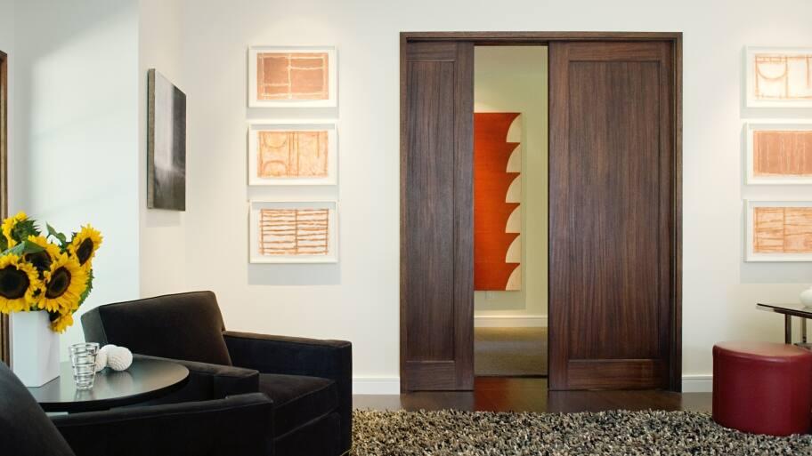 Wonderful TruStile Doors Wood Panel Pocket Doors Inside Home