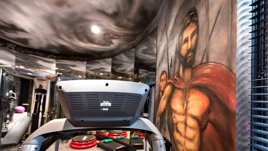 Workout room design by Silver Crow Studios