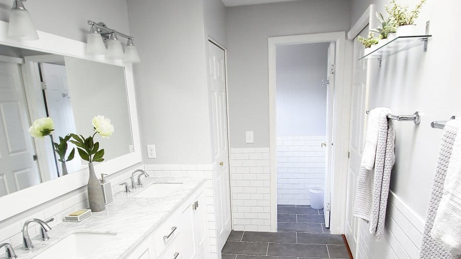 Finished master bathroom