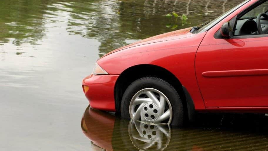 Car Driving In Water