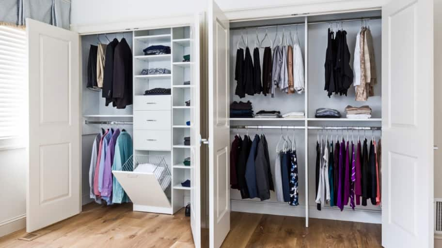 how to make the most of a small closet