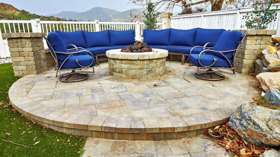 The Right Paver Patio Ideas Can Extend Your Homeu0027s Living Space. Consider  How A Custom Seating Area Or Fire Pit Could Help To Make The Most Of Your  Patio ...