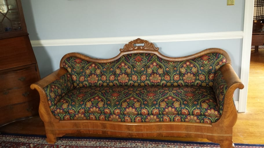 Preserving The Value Of Antiques Reupholstered Antique Sofa