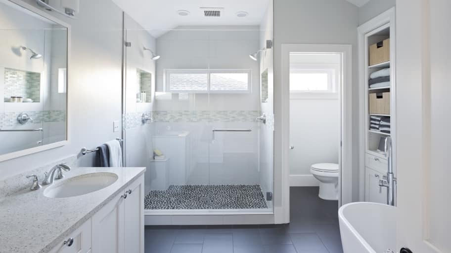 Exceptionnel Oversize Shower, Vaulted Ceilings And A Free Standing Soaking Tub