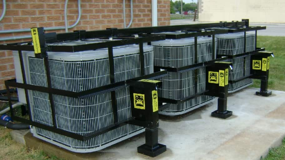 Highly rated Gorilla Cages of Blue Island, Illinois, installs its steel air conditioning protection cages for residential and commercial customers in the Chicago area. (Photo Courtesy of Henry Martinez)