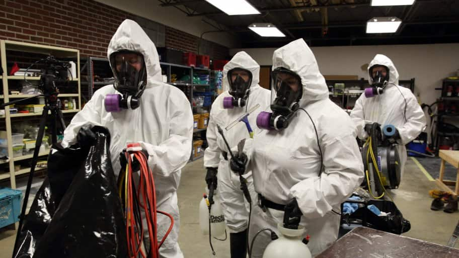 Hire a pro for asbestos testing and removal angies list 4 contractors in haz mat suits solutioingenieria Choice Image