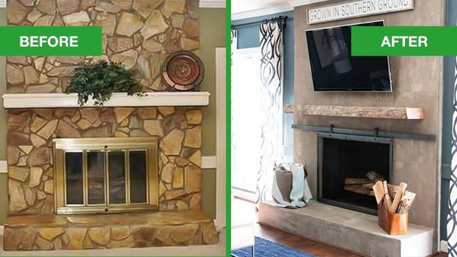 idea ideas brick your old step makeover by improvement fireplace to home update