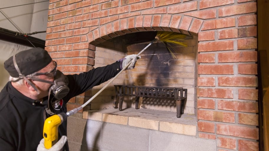 chimney sweep at work - How Much Does A Chimney Sweep Cost? Angie's List