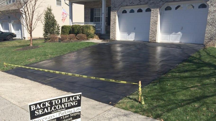 Asphalt driveway sealed