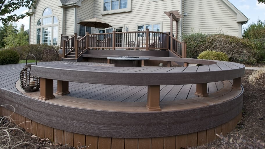 building a deck (Photo by Photo courtesy of Rock Solid Builders)