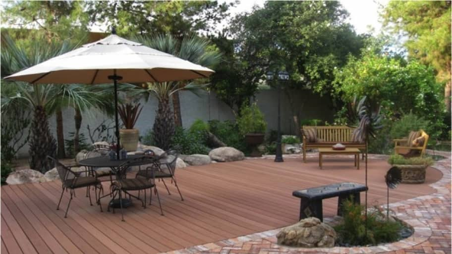deck over a pool