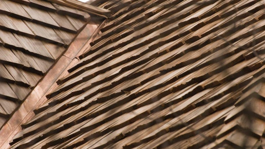 wooden shingle roof