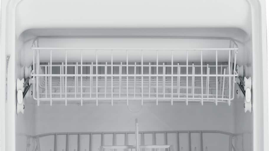 ge spacemaker under the sink dishwasher gsm2200vww interior shot - Under Sink Dishwasher