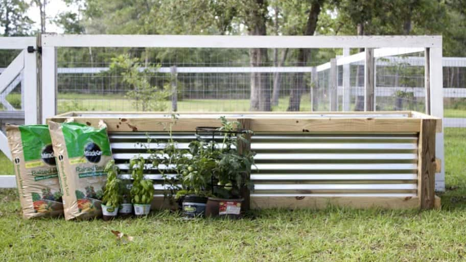 Build a DIY garden box to add more space to your landscaping. (Photo courtesy of Jamie Lott/Southern Revival)
