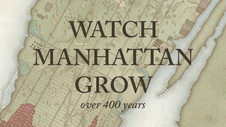 Watch Manhattan Grow Over 400 Years Header